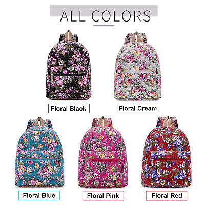 $13.90 • Buy Fashion Backpack BTS, Beautiful Floral Design Casual Daypack Essential Bag 9