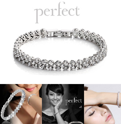Women Lady Bracelet 925 Sterling Silver Jewellery Classic Solid Bangle Hot Gift  • 5.99$