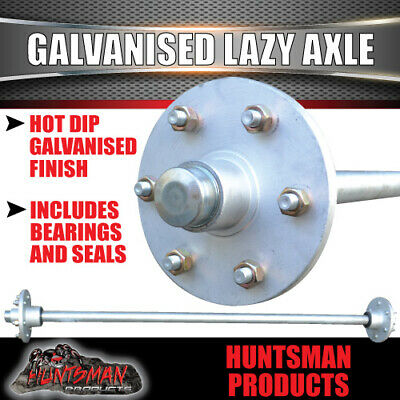 AU210 • Buy Lazy 6 Stud Trailer Axle 39mm Round Galvanised 60-77  Axles 750KG Boat Caravan