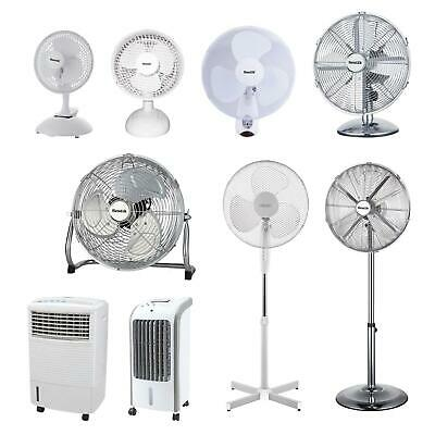 Pedestal Cooling Fan Desk Fans Oscillating Stand Standing Home Office 3 Speed • 11.95£