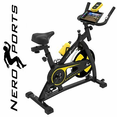 Nero Sports Exercise Bike Studio Cycle Indoor Training - 12kg Spinning Flywheel • 229.99£