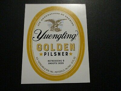$2.99 • Buy YUENGLING BREWERY Golden Pilsner STICKER Decal Craft Beer Brewing Yeungling
