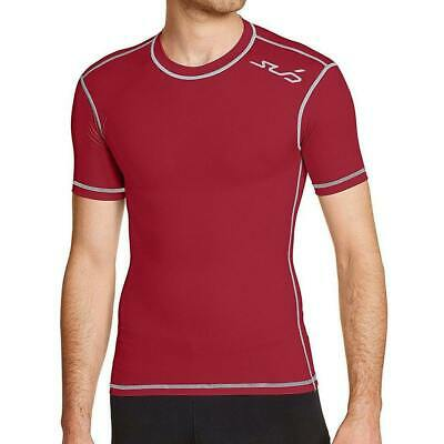 £7.99 • Buy Sub Sports Dual Compression Mens Base Layer Red Short Sleeve Top Gym Pro Core