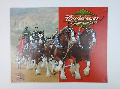 $ CDN20.24 • Buy Budweiser Beer Clydesdale Horses Tin Meta Sign 2005 USA Made 16 X 12.5