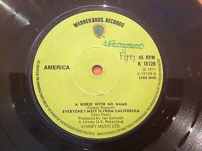 AMERICA - 1971 Vinyl 45rpm 7-Single - A HORSE WITH NO NAME • 4.99£