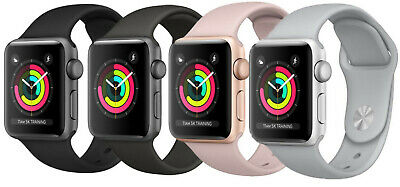 $ CDN201.96 • Buy Apple Watch Series 3 38mm / 42mm  Aluminum GPS + GSM Cellular Smartwatch