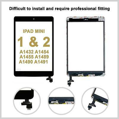 £8.99 • Buy Black IPad Mini 1/2 Touch Glass Digitizer Screen Replacement +IC Home Button