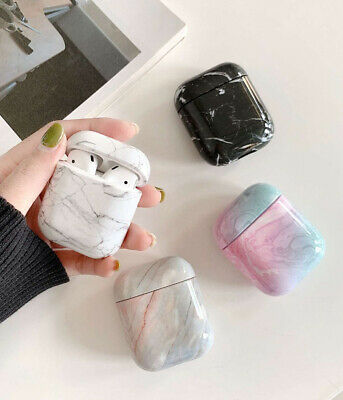 $ CDN1.67 • Buy New For AirPods Marble Pattern Hard Protective Cover Bluetooth Earphone Case Box