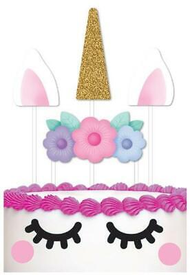 AU3 • Buy Unicorn Party Cake Topper Pack - 8 Pieces