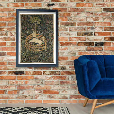 £3.99 • Buy Unknown - The Unicorn In Captivity Wall Art Poster Print