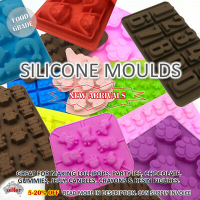 AU6 • Buy SILICONE MOULD Chocolate Ice Lollipop Crayon Candle Resin Lego Unicorn Dinosaur