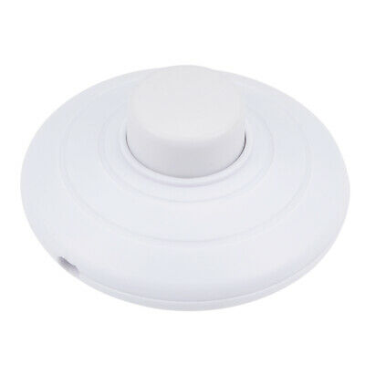 Inline Foot Pedal Push Button Switch Round Lamp Light Foot Control White • 4.52£
