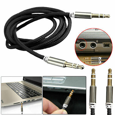 £2.99 • Buy 3.5mm Jack To Jack Aux Cable Audio Lead 1m Braided Auxiliary MP3 Headphone IPod
