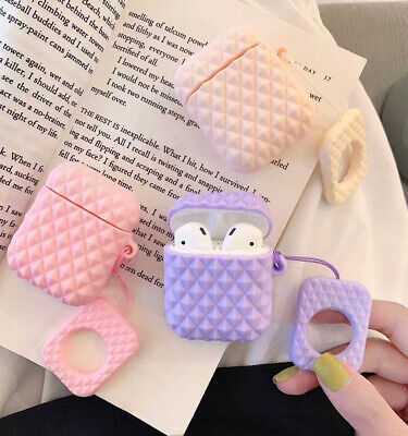 $ CDN5.11 • Buy For Apple Airpods Silicone Candy Rhombus Wireless Bluetooth Earphone Case Cover