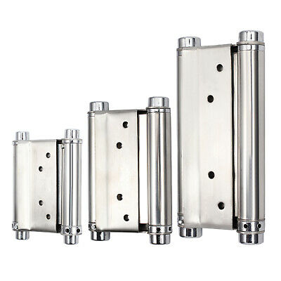 2X 3''/4''/6  Double Action Spring Hinges Swing Door Gate Saloon Kitchen UK • 10£