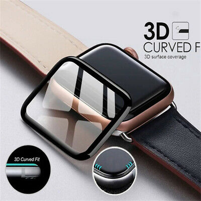 $ CDN2.94 • Buy For Apple Watch Series 4 3 2 1 3D Full Coverage Tempered Glass Screen Protector