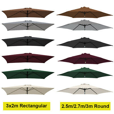2.5m 2.7m 3m 3x2m Replacement Fabric Parasol Canopy Cover For 6 8 Arm Umbrella • 28.99£