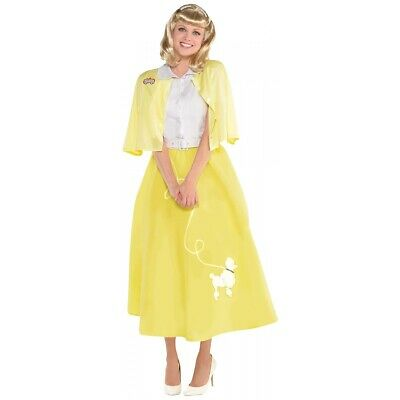AU49.56 • Buy Sandy Grease Costume Adult 50s Outfit Poodle Skirt Halloween Fancy Dress