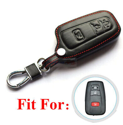 $10.98 • Buy Fit For Toyota Prius C 3 Buttons Remote Key Fob Bag Holder PU Leather Cover Case