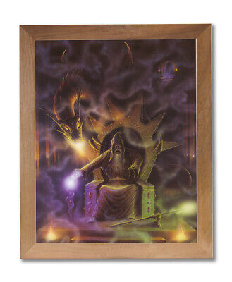 £43.15 • Buy Dragon Fire Medieval Wizard # 4 Wall Picture Honey Framed Art Print