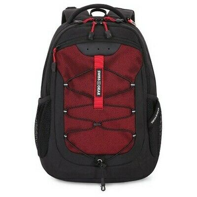 b2cdcb787 Swiss Gear 18.5 Inch Travel Laptop Backpack Book School Bag Black Red New •  49.99$