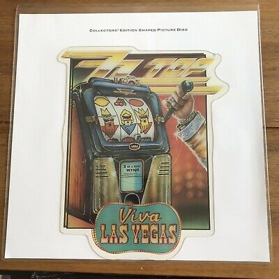 "ZZ Top - Las Vegas 7"" Shaped Picture Disc Vinyl • 16.95£"
