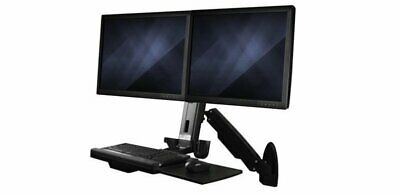 Wall-Mounted Sit-Stand Desk Workstation - Dual Monitor • 455.44£
