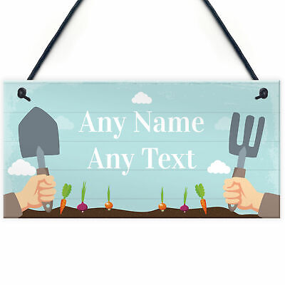 Allotment Sign Greenhouse Sign Garden Sign Personalised Shed Summer House Plaque • 5.99£