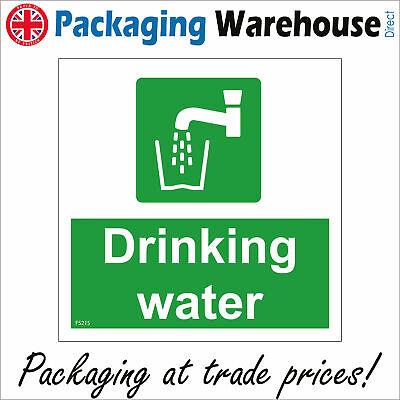 Fs215 Drinking Water Sign Filter Fountain Canteen Kitchen Tap Vending Bottle • 4.99£