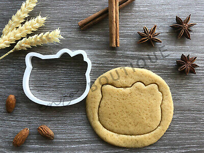 Kitty With Bow Cookie Cutter | Fondant Cake Decorating | UK Seller • 3.79£