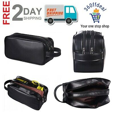 AU23.09 • Buy Travel Toiletry Bag For Men Ladies Supply Toiletry Bag Case Soft Leather Zipped