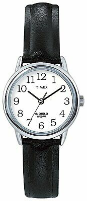 Timex Ladies Easy Reader Black Leather Strap Indiglo Night Light Analogue Watch • 26.99£