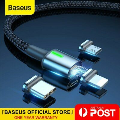 AU11.99 • Buy Baseus Magnetic Type-C Apple Lightning Micro USB Cable Fast Charging Data Cable