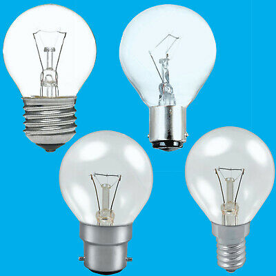 2x Clear Golf Round Dimmable Standard Light Bulb 25W 40W 60W BC ES SBC SES Lamps • 5.76£