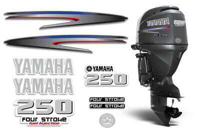 AU118.20 • Buy Yamaha 250 4 Stroke HP Decal Kit Outboard Engine Graphic 250hp Sticker USA MADE