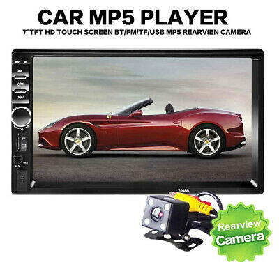 AU84.81 • Buy Double 2DIN 7'' In-Dash Car Stereo Radio USB/TF Aux Input MP5 Player Head Unit