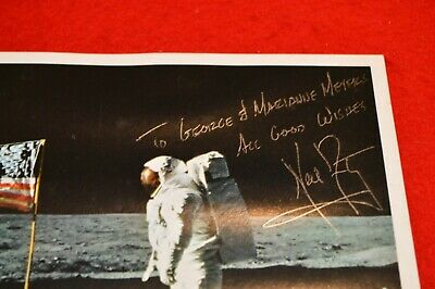 $2179 • Buy Neil Armstrong Signed Glossy 8x10 Flag On The Moon Photo!!! Strong Signature!!!