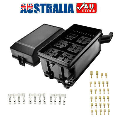 AU16.43 • Buy 6 Way 12-Slot Relay Box 6 Relay 6 ATC/ATO Standard Fuses Holder Block Universal