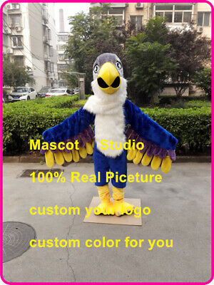 Blue Eagle Mascot Costume Suit Cosplay Party Game Dress Outfit Halloween Fancy @ • 283.50£