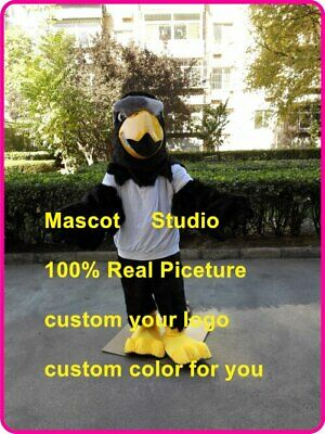 Black Eagle Mascot Costume Suit Cosplay Party Game Dress Outfit Halloween Fancy@ • 247.50£