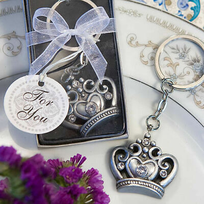 24-144  Royal Crown Design Key Ring - Fairy Tale Wedding Party Favors • 36.87£
