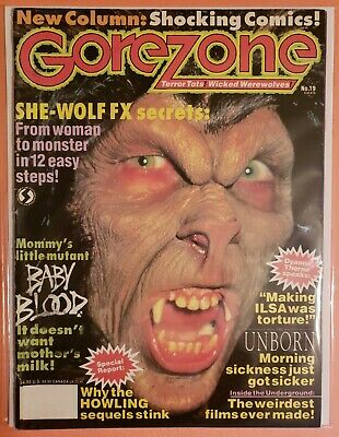 $7.99 • Buy Gorezone #19 Fn 1991 Magazine  Wicked Werewolves Poster Still Attached