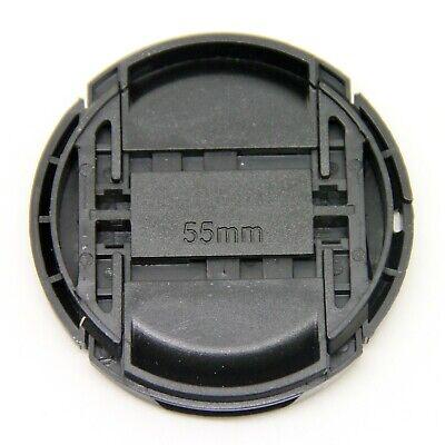 AU5.14 • Buy 55mm Center Pinch Snap On Front Lens Cap Cover With String For Canon Nikon Sony