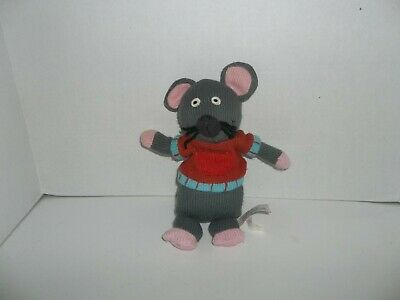 £7.15 • Buy Latitude Enfant Pint Size Productions Gray Knitted Mouse Plush Rodent 10  Tall