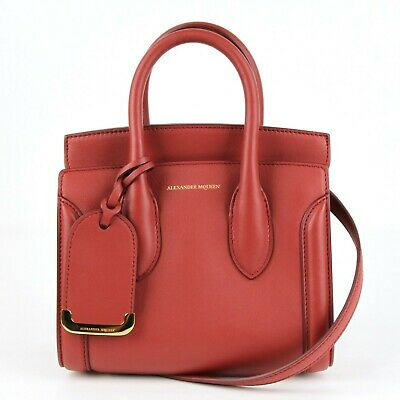 AU955.38 • Buy $1990 Alexander McQueen Lacqured Red Leather Mini Heroine 21 Bag 479878 6622