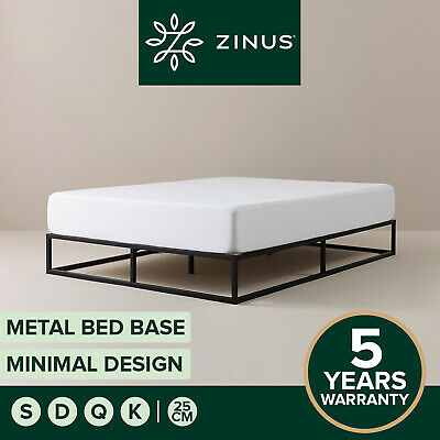 AU155 • Buy Zinus Joesph SINGLE DOUBLE QUEEN KING Metal Bed Base Mattress Frame Timber Slat