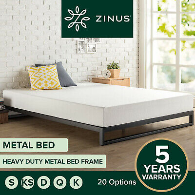 AU189 • Buy Zinus Queen Double King Single Metal Bed Frame Mattress Base Wood Slat Wooden