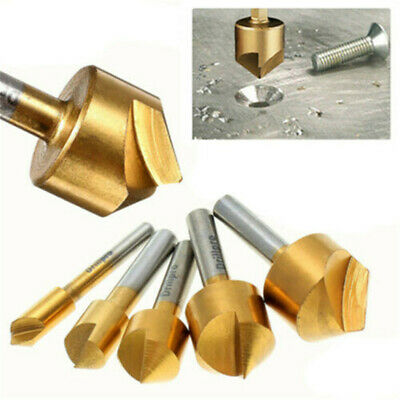 6-19mm Titanium Coated Countersink Drill Bit Set For Wood Plastic Metal Working • 4.68£