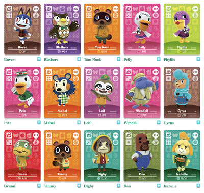AU6.95 • Buy  Animal Crossing Amiibo Series 3 Cards #201-300 [free Postage]