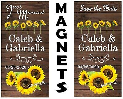 AU65.53 • Buy Sunflower Wedding Favors Save The Date Personalized Magnets